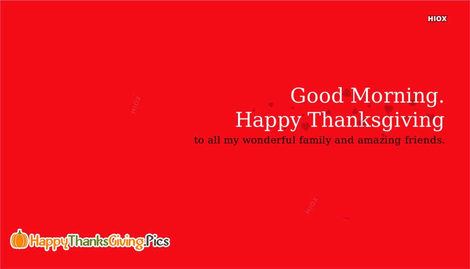 Happy Thanksgiving Good Morning Images