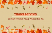 May The Good Things Of Life Be Yours In Abundance Not Only At Thanksgiving But Throughout The Coming Year