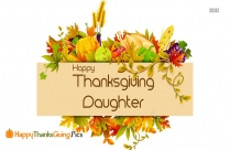 Happy Thanksgiving Daughter