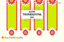 Happy Thanksgiving Flowers Images