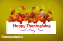 Happy Thanksgiving With All My Love