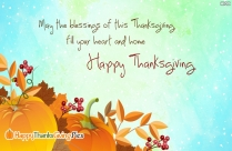God Has Blessed You. Happy Thanksgiving Image