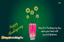 May This Thanksgiving Day Warm Your Heart With Joy And Gladness