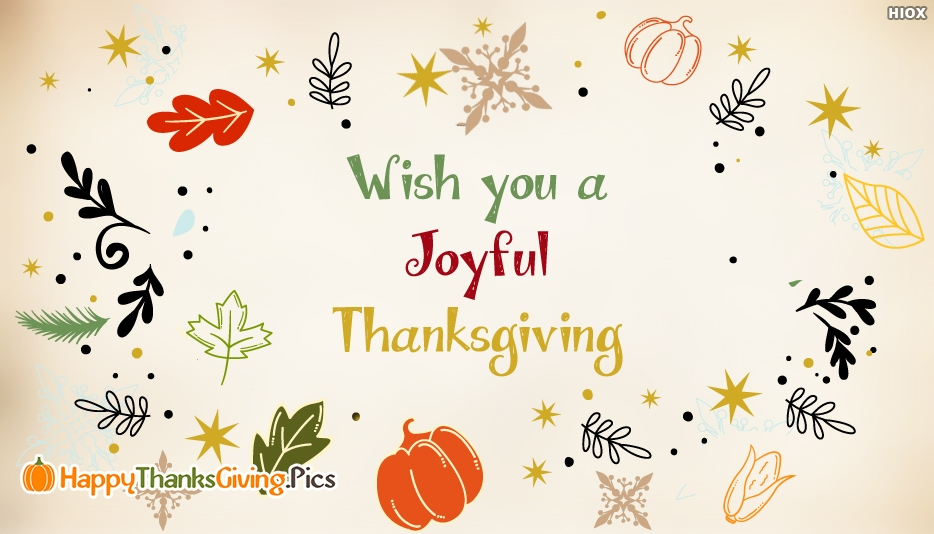 Wish You A Joyful Thanksgiving - Thanksgiving Images for Colleagues